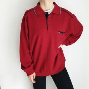 Kingfield Rot L Oversize Pullover Hoodie Pulli Sweater Strickjacke Top Oberteil True Vintage