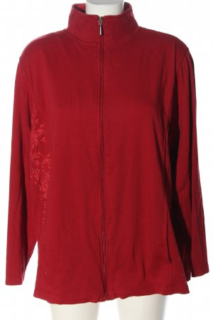Kingfield Sweat Jacket red themed print casual look