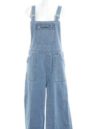 Kings of Indigo Jeans met bovenstuk korenblauw-staalblauw casual uitstraling