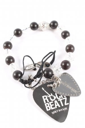 Kinky Rocker Pearl Bracelet silver-colored-black casual look