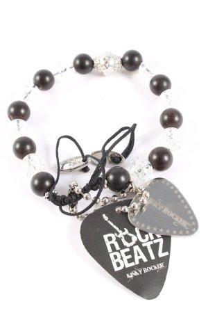 Kinky Rocker Perlenarmschmuck silberfarben-schwarz Casual-Look