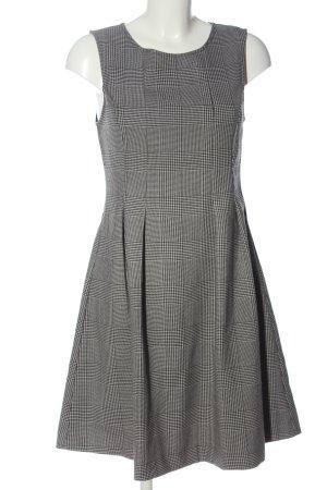 Kiomi A-Linien Kleid hellgrau-schwarz Allover-Druck Casual-Look