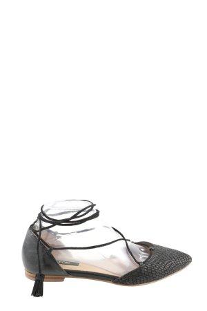 Kiomi Ballerinas mit Spitze schwarz Animalmuster Casual-Look