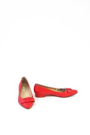 Kiomi Lakierowane baleriny czerwony