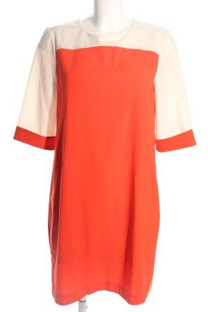 Kiomi Blusenkleid rot-creme Casual-Look
