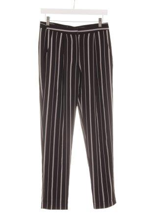 Kiomi Bundfaltenhose schwarz-weiß Streifenmuster Casual-Look