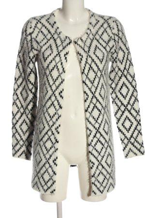 Kiomi Cardigan white-black graphic pattern casual look