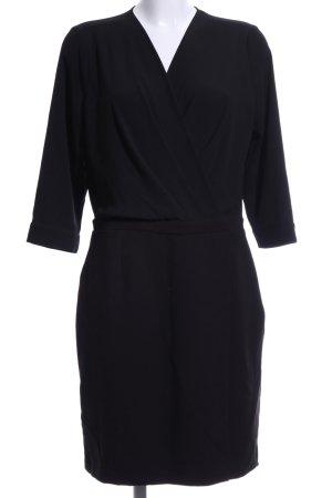 Kiomi Chiffonkleid schwarz Elegant