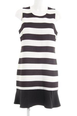 Kiomi Cocktailkleid schwarz-weiß Streifenmuster Elegant