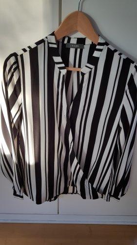 KIOMI Damen Bluse schwarz / weiß gestreift Gr.38