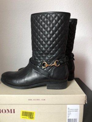 KIOMI gesteppte Leder Stiefel, Boots,Stiefeletten,Gr. 39, Schwarz