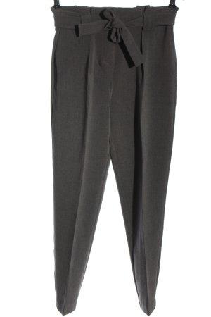 Kiomi High Waist Trousers light grey weave pattern elegant