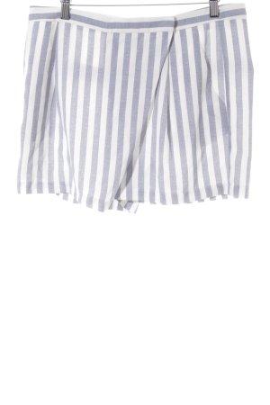 Kiomi High-Waist-Shorts kornblumenblau-weiß Streifenmuster Casual-Look
