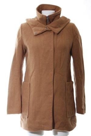 Kiomi Manteau à capuche brun style décontracté