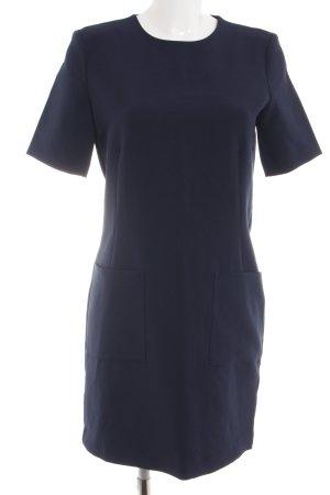Kiomi Kurzarmkleid blau Business-Look