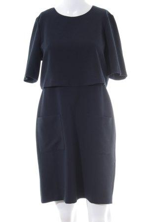 Kiomi Kurzarmkleid dunkelblau Elegant