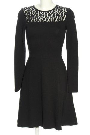 Kiomi Langarmkleid schwarz Elegant
