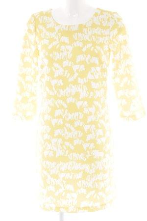 Kiomi Langarmkleid dunkelgelb-weiß Street-Fashion-Look