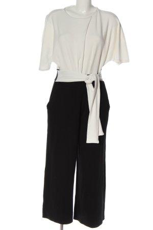 Kiomi Langer Jumpsuit bianco-nero stile professionale