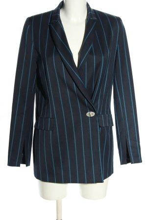 Kiomi Long-Blazer schwarz-blau Streifenmuster Business-Look