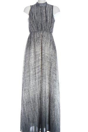 Kiomi Maxikleid weiß-blau abstraktes Muster Casual-Look