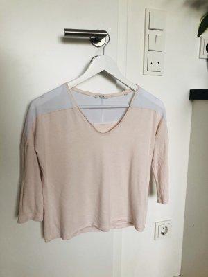 Kiomi Oberteil Shirt Bluse Hemd Crop Top Basic Freizeit sexy V Ausschnitt