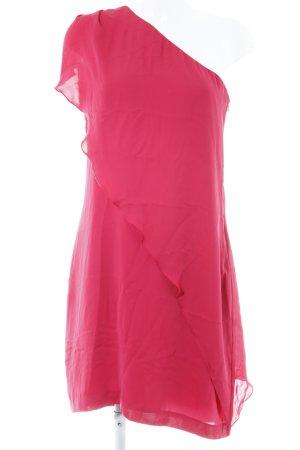 Kiomi One-Shoulder-Kleid neonrot Party-Look