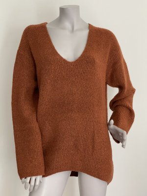 Kiomi Oversized Sweater brown red-russet