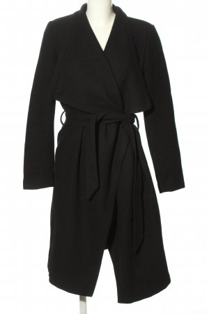 Kiomi Oversized Mantel schwarz Casual-Look