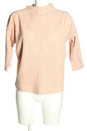 Kiomi Oversized Shirt nude striped pattern casual look