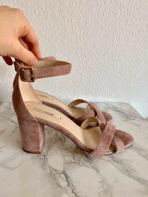 KIOMI pumps Sandalette sandale Riemensandale Riemensandalette Leder rosa rose Flieder Grösse 40