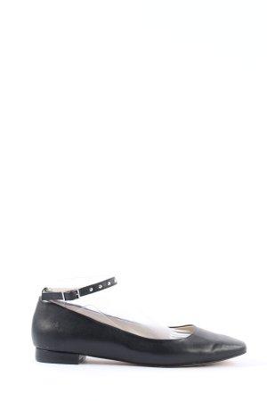 Kiomi Ballerines à lacets noir style d'affaires