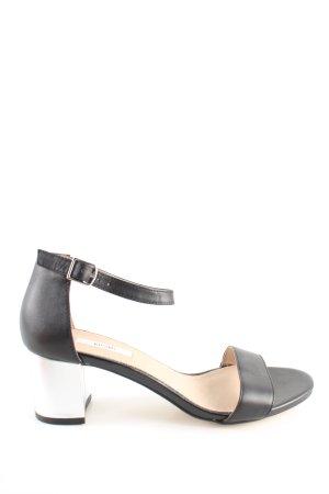 Kiomi Riemchen-Sandaletten schwarz-silberfarben Casual-Look