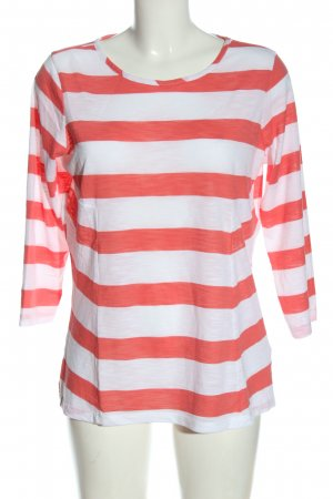 Kiomi Stripe Shirt white-pink striped pattern casual look