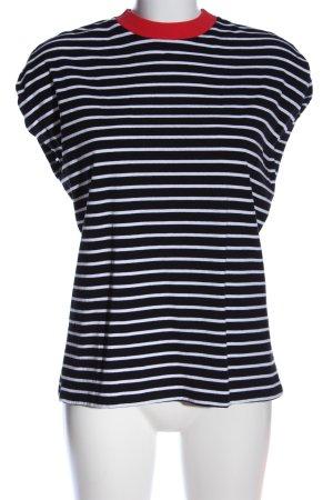 Kiomi Ringelshirt schwarz-weiß Streifenmuster Casual-Look