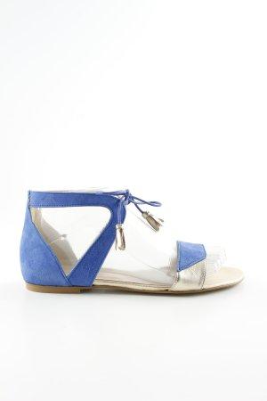Kiomi Romeinse sandalen blauw-zilver casual uitstraling