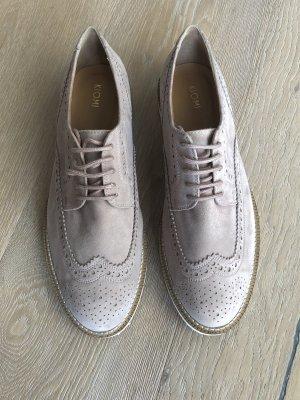 Kiomi rosa Brogue Schuhe Brogues Oxford Schuhe Lederschuhe flache Schuhe Büroschuhe Veloursleder Budapester