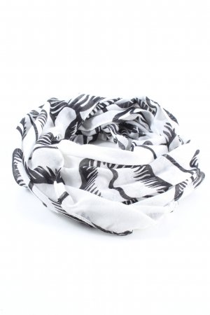 Kiomi Snood light grey-black allover print casual look