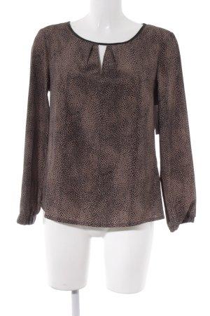 Kiomi Schlupf-Bluse camel-schwarz Leomuster klassischer Stil