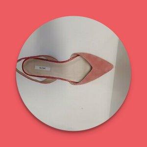 Kiomi Slingback ballerina's framboosrood-roze Leer