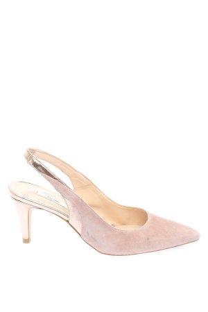 Kiomi Czółenka z paskiem za piętą różowy Elegancki