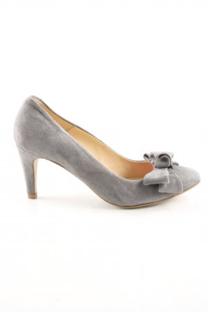 Kiomi Spitz-Pumps hellgrau Business-Look