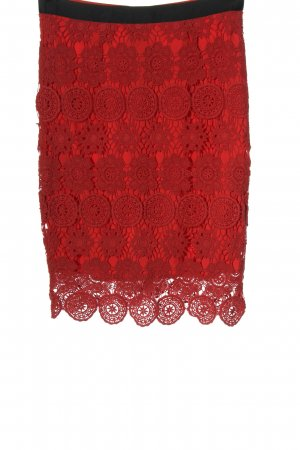 Kiomi Lace Skirt red casual look