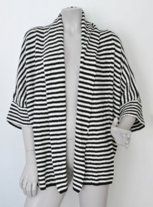 Kiomi Strickjacke schwarz weiß gestreift Gr. M (auch für L) WIE NEU