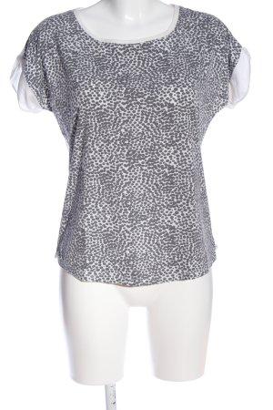 Kiomi T-Shirt weiß-schwarz Punktemuster Casual-Look