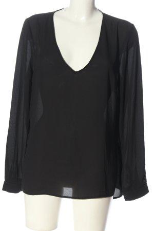 Kiomi Transparenz-Bluse schwarz Casual-Look