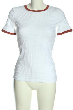 Kiomi Ribbed Shirt white casual look