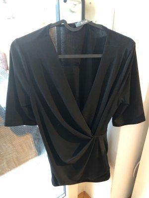 Kiomi v- Ausschnitt raffunf Business Bluse Shirt Gr 36