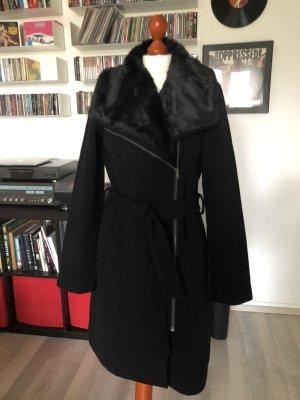Kiomi Winterjas zwart Wol