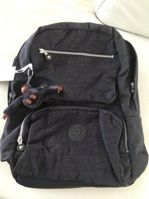 KIPLING Casaque Rucksack Tasche für Laptop dunkelblau - Neu mit Etikett